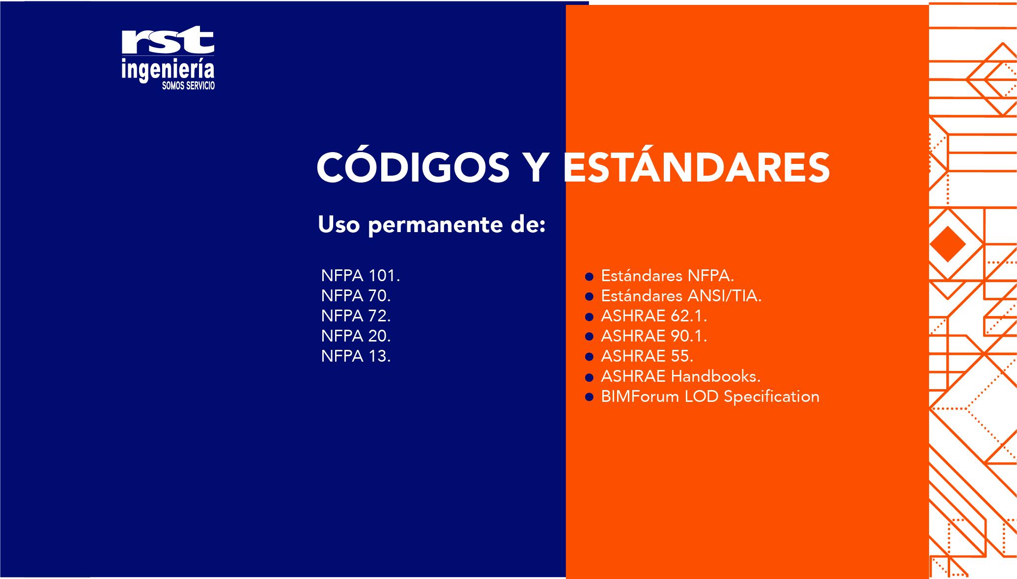Códigos y estándares